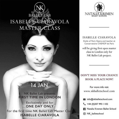 NK Ballet Lab Isabelle Ciaravola Master Class, Natalia Kremen Ballet School, London, 14th January