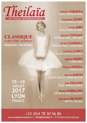 Classical dance class, Theilaïa International, Lyon, 15th-19th July