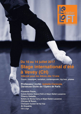 Stage international d'été, Atelier le Loft, Vevey, 10-14 Juillet